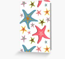 Starfishes seamless pattern Greeting Card