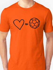 love equals football Unisex T-Shirt