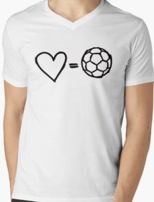 love equals football Mens V-Neck T-Shirt