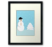 Snow doll Framed Print