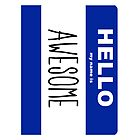 Hello my name is Awesome by Brit Sigh