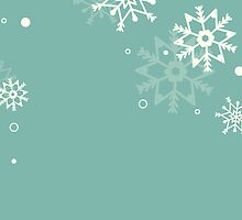 Retro simple Christmas card with snowflakes by Ana Marques