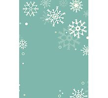 Retro simple Christmas card with snowflakes Photographic Print