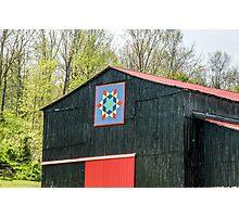 Kentucky Barn Quilt - 2 Photographic Print