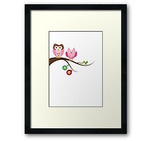 Couple owls Framed Print
