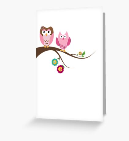 Couple owls Greeting Card