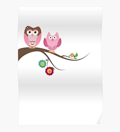 Couple owls Poster