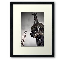 The Tower from a Free Fall Ride at a Carnival Framed Print