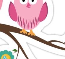 Couple owls Sticker