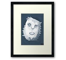 Portrait of Blue Framed Print