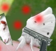 Kill goths! (Goat and moth) Sticker