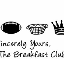 Sincerely Yours the Breakfast Club | Typography  Sticker