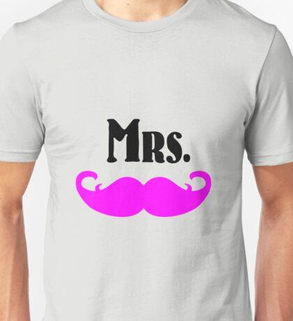 Mrs. Mustache Unisex T-Shirt
