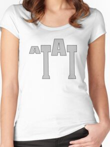 Typographic At-At Women's Fitted Scoop T-Shirt