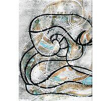 Naked despair mono print Photographic Print