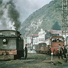 Steam engines Greymouth NZ (Feature Smoke Photog) 196503090099 by Fred Mitchell