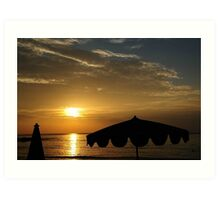 Sunset on the Sea Art Print