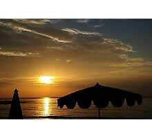 Sunset on the Sea Photographic Print