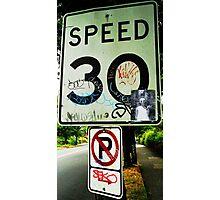 Speed Kills Photographic Print