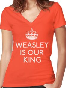Weasley is our King Women's Fitted V-Neck T-Shirt