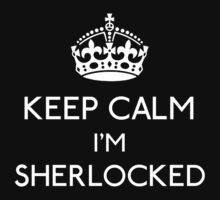 Keep Calm, I'm Sherlocked Kids Tee