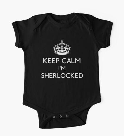 Keep Calm, I'm Sherlocked One Piece - Short Sleeve
