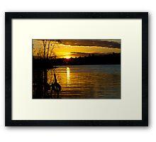 River Murray Sun Set Framed Print