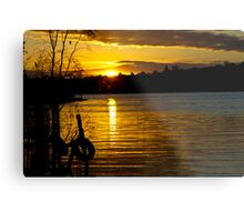 River Murray Sun Set Metal Print