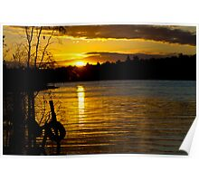 River Murray Sun Set Poster