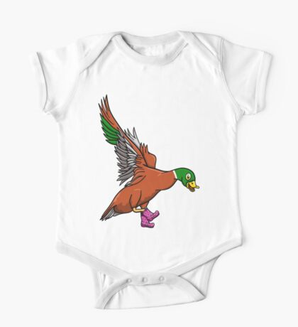 Duck Wearing Boots One Piece - Short Sleeve