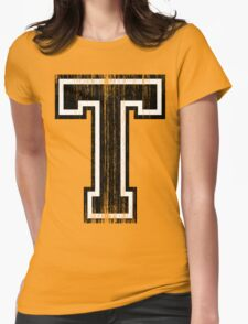 Big Varsity Letter T Womens Fitted T-Shirt