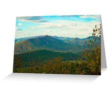Blue Ridge Parkway in Virginia Greeting Card