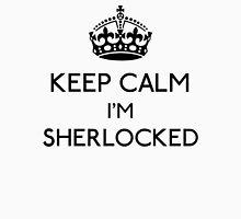 Keep Calm, I'm Sherlocked (Black) Men's Baseball ¾ T-Shirt