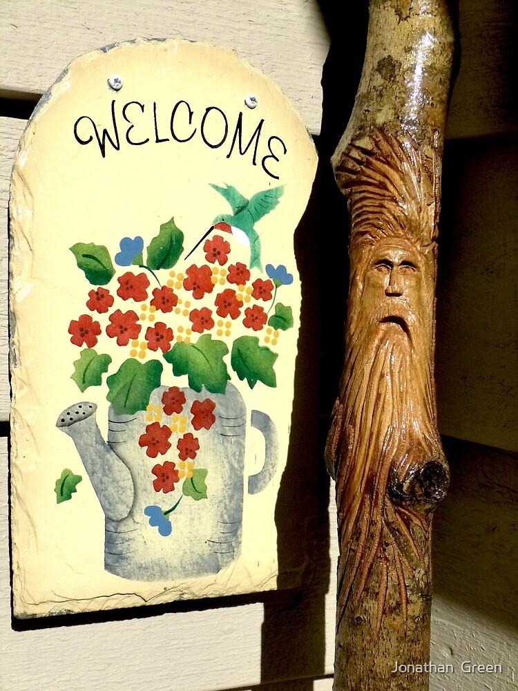 Welcoming Wood Spirit  by Jonathan  Green