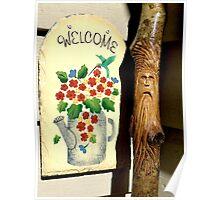 Welcoming Wood Spirit  Poster
