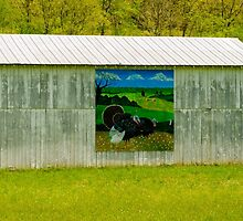 Barn - Wild Turkey Mural by Mary Carol Story