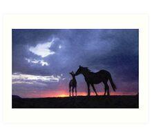 Horses in Love 2 Art Print