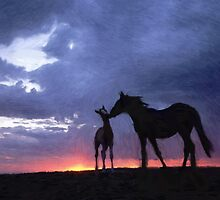 Horses in Love 2 by Adam Asar