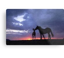 Horses in Love 2 Metal Print