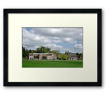 Okeover Hall and Manor Church  Framed Print