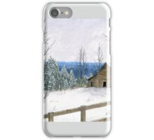 Wintry Barn iPhone Case/Skin