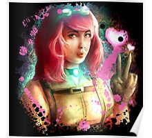 Steampunk funny girl  Poster