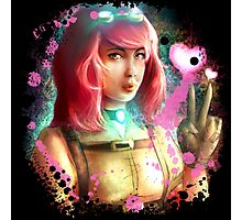 Steampunk funny girl  Photographic Print