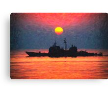 alone in the golden seas Canvas Print