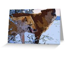Amazing Wolves Greeting Card