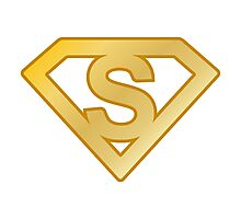 Golden superman letter Photographic Print