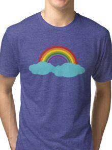 Rainbow with cloud Tri-blend T-Shirt