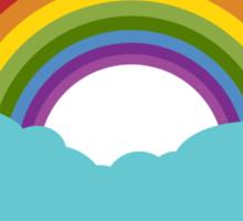 Rainbow with cloud Sticker