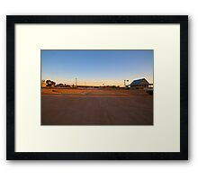 Main Street, Silverton, Outback NSW Framed Print