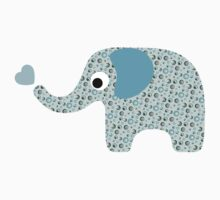 Elephant Seamless background Kids Tee